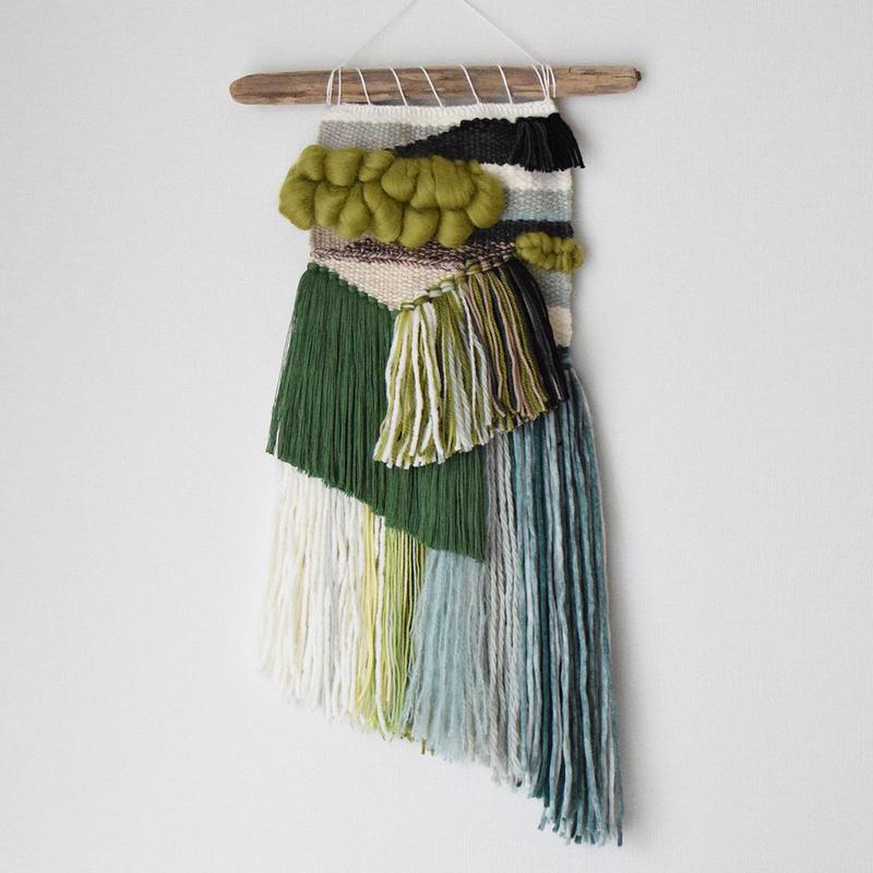 weaving 糸で色を作る-翠-