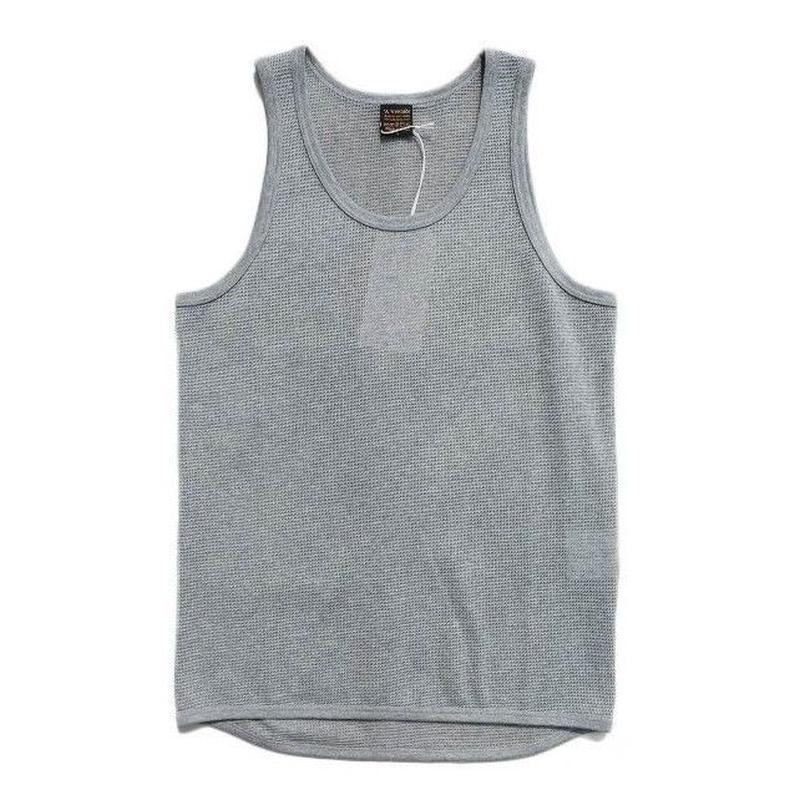 *A VONTADE(アボンタージ)  Mesh Eyelet Tank Top   GRAY TOP