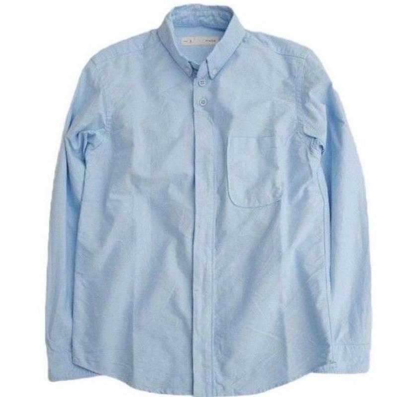 nisica(ニシカ)   ボタンダウンシャツ  SAX
