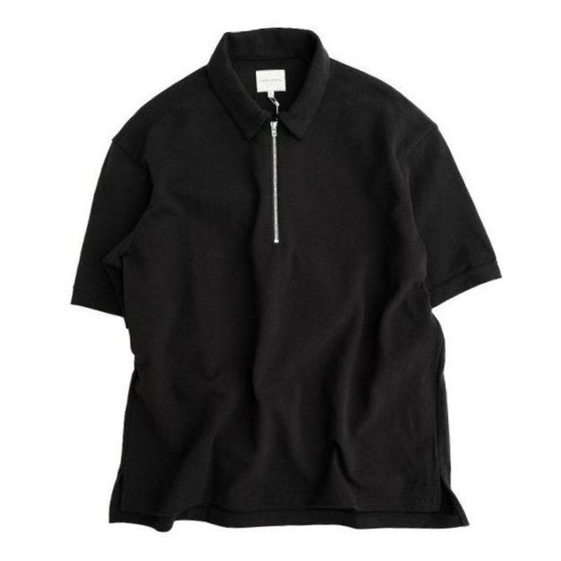 CURLY(カーリー)   BRIGHT SS ZIP POLO  BLACK