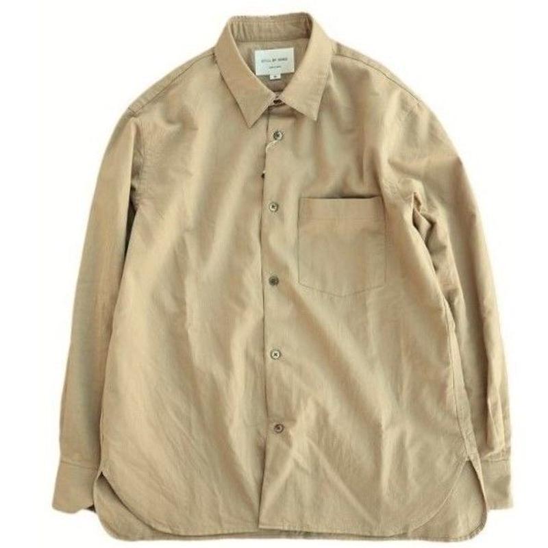 STILL BY HAND(スティルバイハンド)  レギュラーカラーシャツ  BEIGE