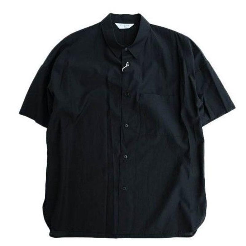 STILL BY HAND(スティルバイハンド)  キュプラ混 半袖シャツ   BLACK