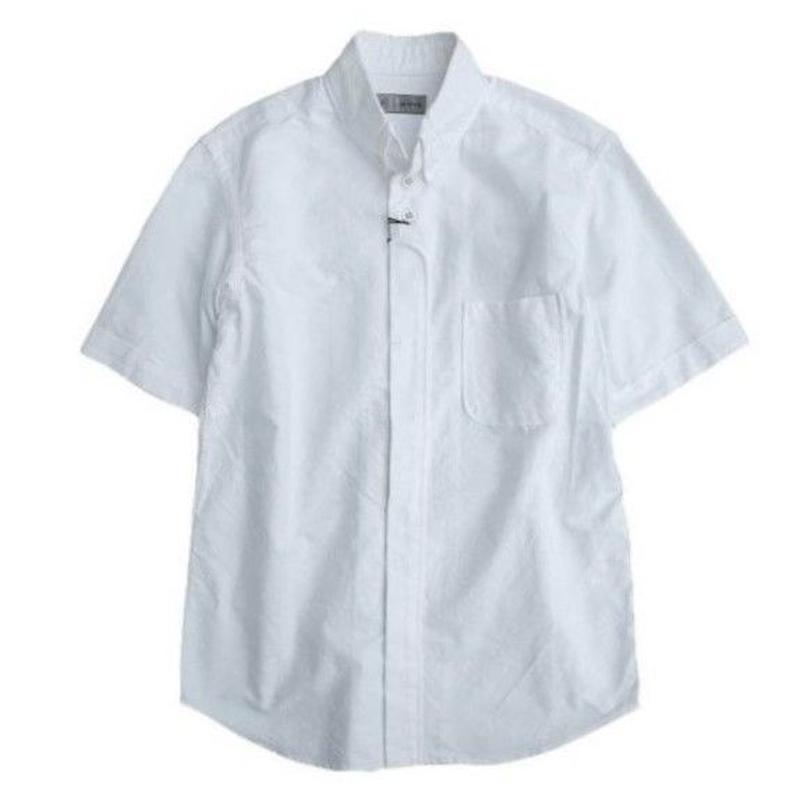 nisica(ニシカ)  ボタンダウンシャツ  半袖   WHITE