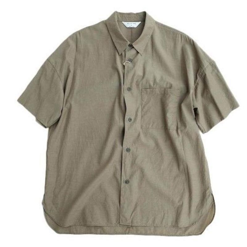STILL BY HAND(スティルバイハンド)  キュプラ混 半袖シャツ   SAGE GREEN
