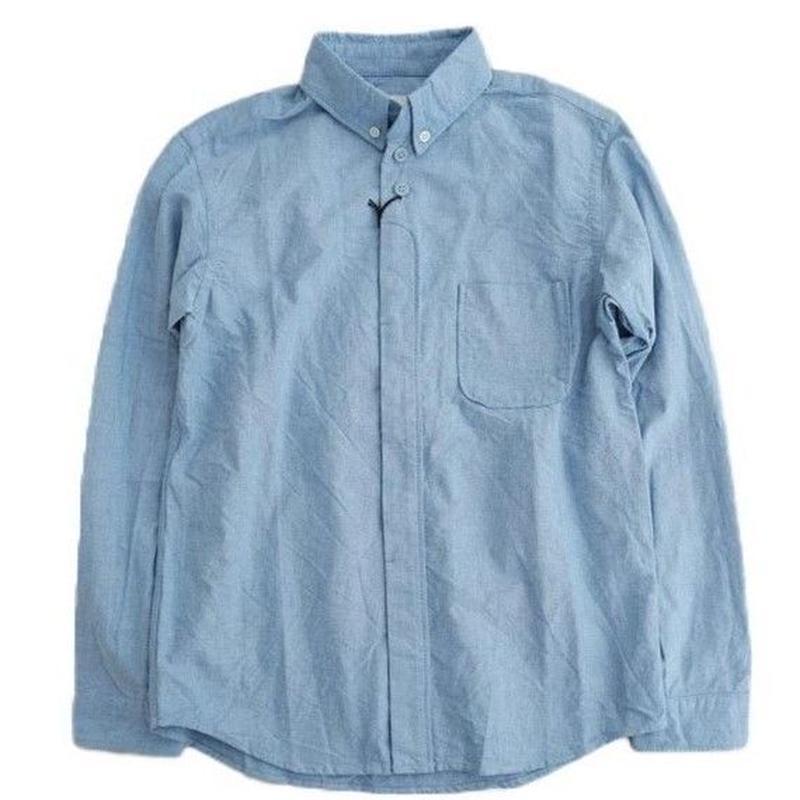nisica(ニシカ)   ボタンダウンシャツ  BLUE