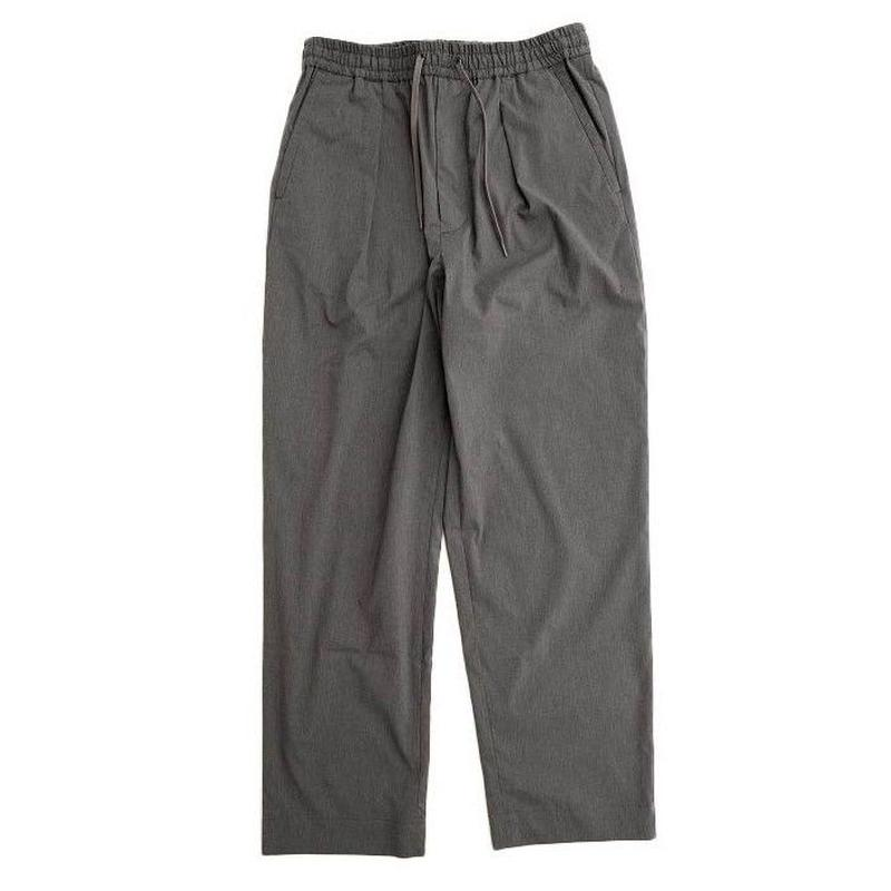 *A VONTADE(アボンタージ)   1 Tuck Wide Easy Trousers   CHARCOALGRAY