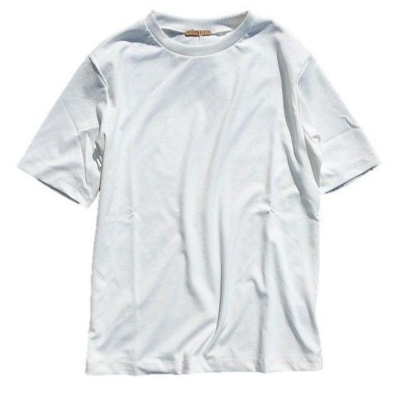 LAMOND(ラモンド)  SUVIN COTTON TEE  WHITE