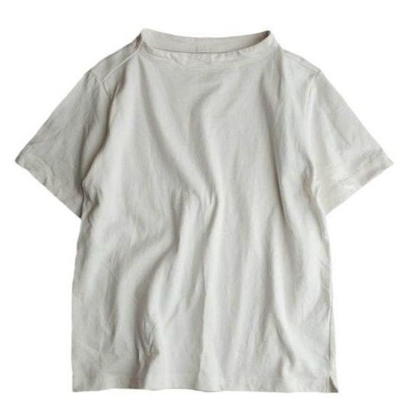 nisica(ニシカ)  ガンジーカットソー半袖   WHITE