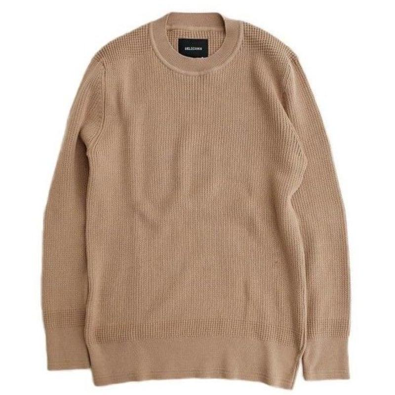 DELICIOUS(デリシャス)   Cotton Sweater   BEIGE