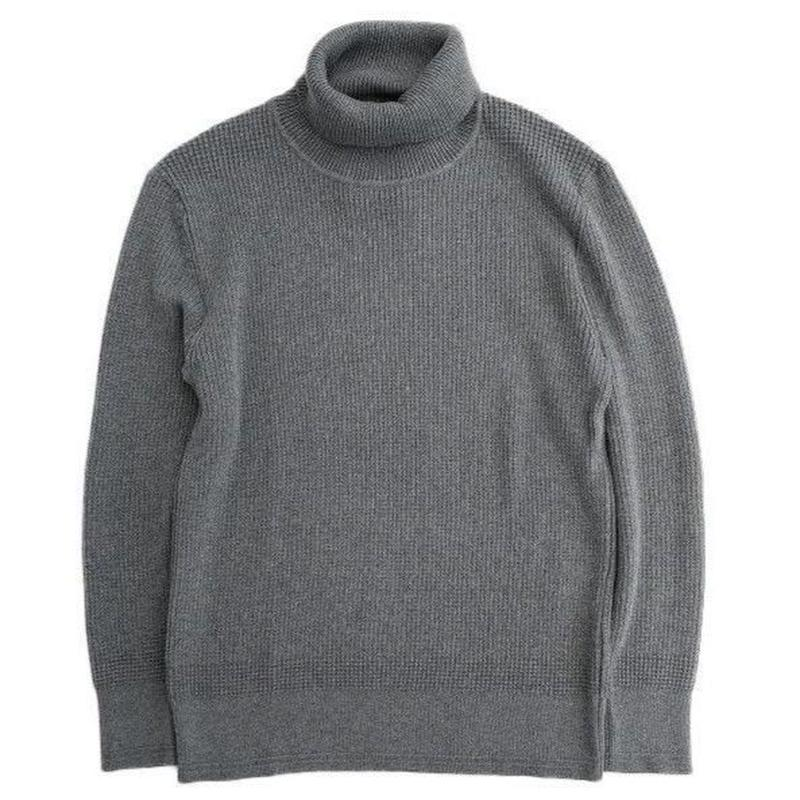 DELICIOUS(デリシャス)   Cotton Turtleneck Sweater   DARKGRAY