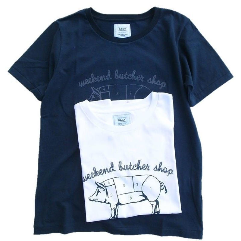 DAILY WARDROBE INDUSTRY(デイリーワードローブインダストリー)   プリントTee BUTCHER