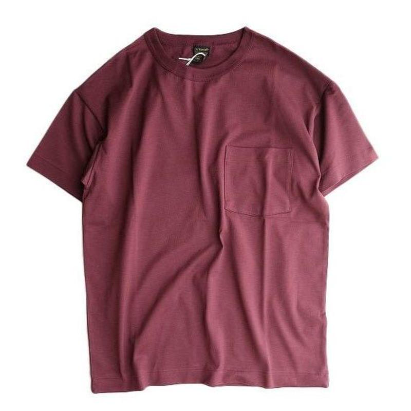 *A VONTADE(アボンタージ)   6.5oz Silket Pocket T-shits LooseFit  BORDEAUX