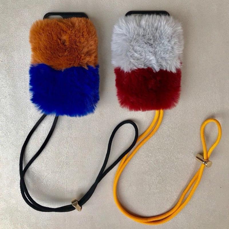 2-layer fur case(iphone6/6s/7/8 共通サイズ)