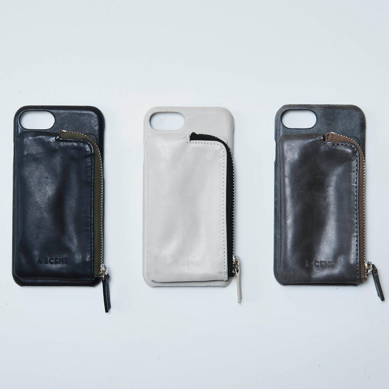 Aging leather case(付属ポケットのみ)