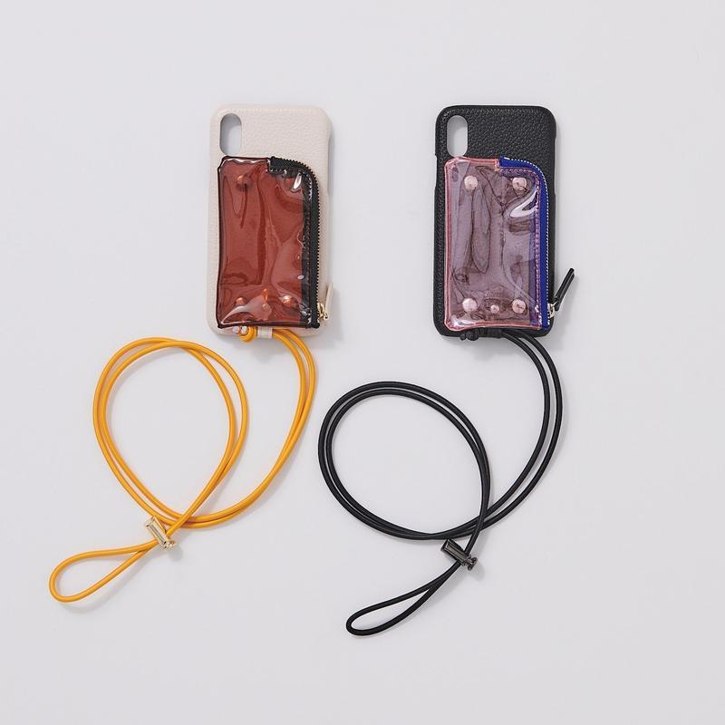 B&C  PVC case (iphoneX/Xs対応サイズ)blackのみ7月11日以降~順次発送