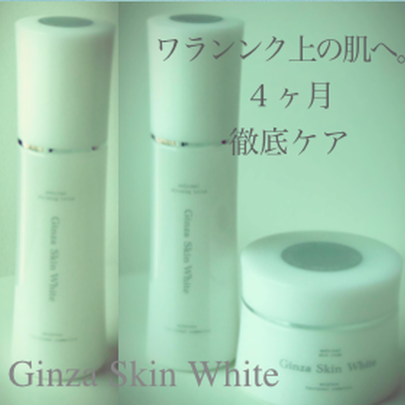 4ヶ月お肌徹底ケアセット Ginza Skin White  スキンケアセット(クリーム100gx1&ローション100mlx2本 約4ヶ月分)⭐️セット商品は12月中旬お届け⭐️