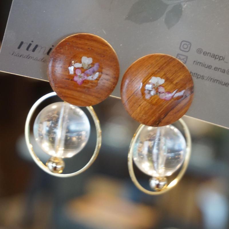 rimiue //  wood earrings