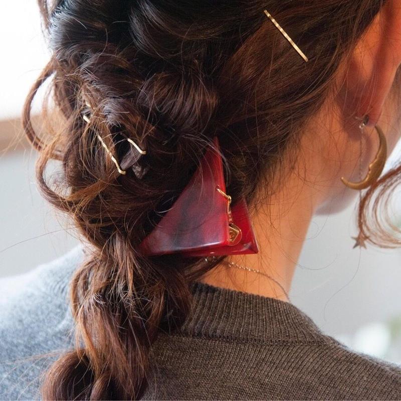 さんかくクリップ Sサイズ  Triangle hair clip small size