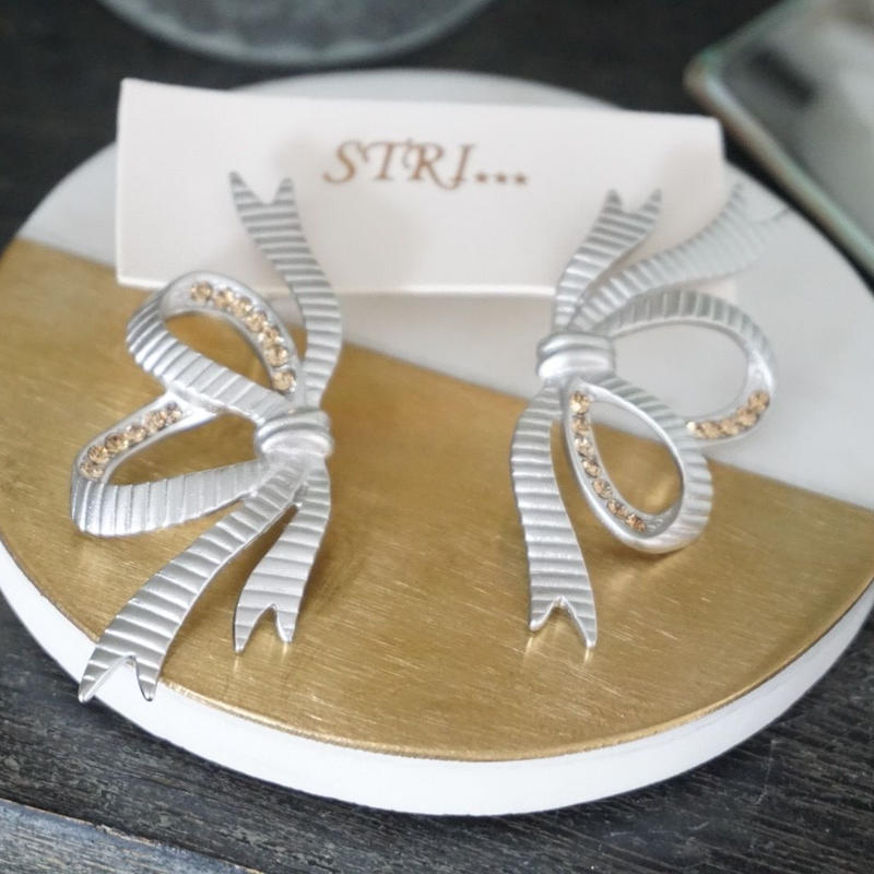 STRI... // Ruban ピアス ribbon earrings