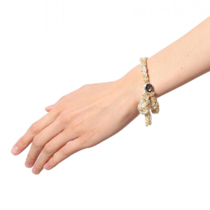 Luxury missanga A / ラジュアリーミサンガ A  [ White × Gold ]