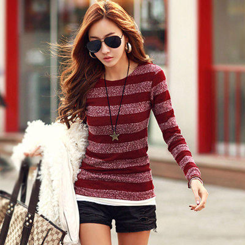 カジュアル 暖かい 人気 タイト 細見せ 長袖 ニット セーター