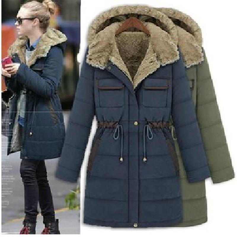カジュアル 暖かい フード付き ふわふわ ボア 中綿 コート
