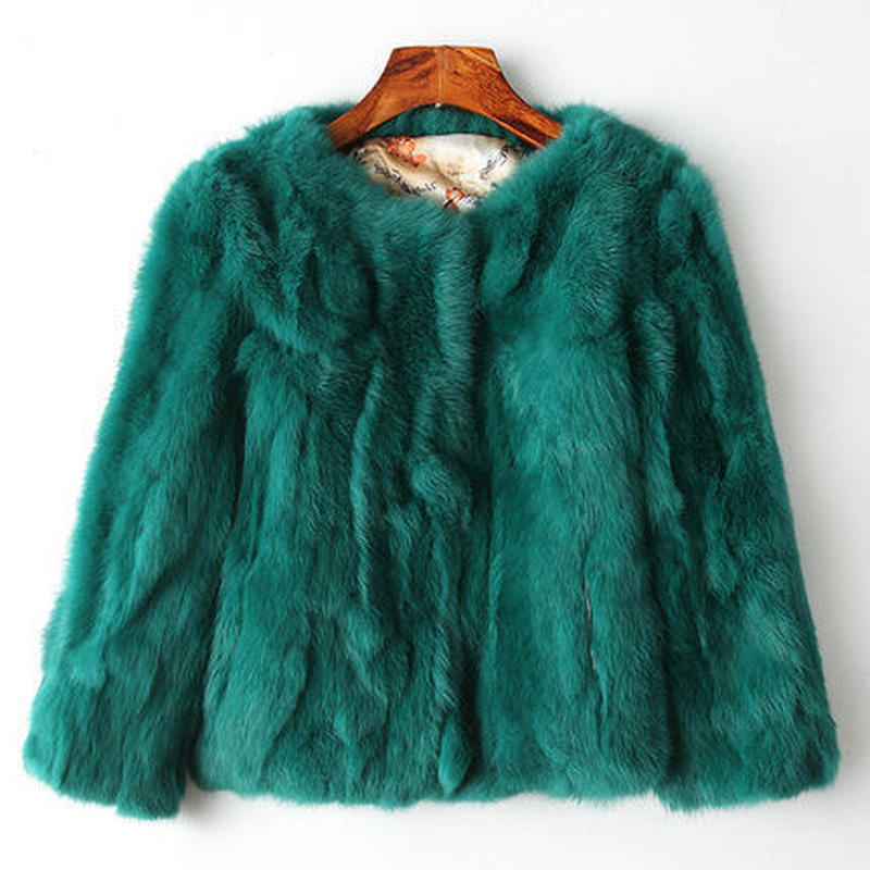 可愛い アンゴラ 9色 無地 長袖 ショート丈 ファーコート