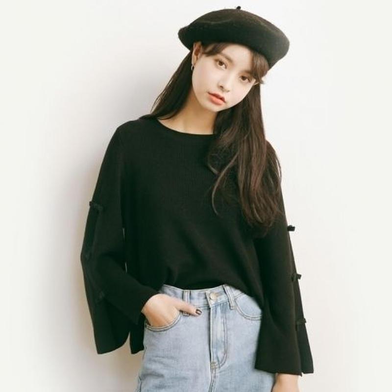 フェミニン 可愛い 人気 スタイル ホーンスリーブ セーター