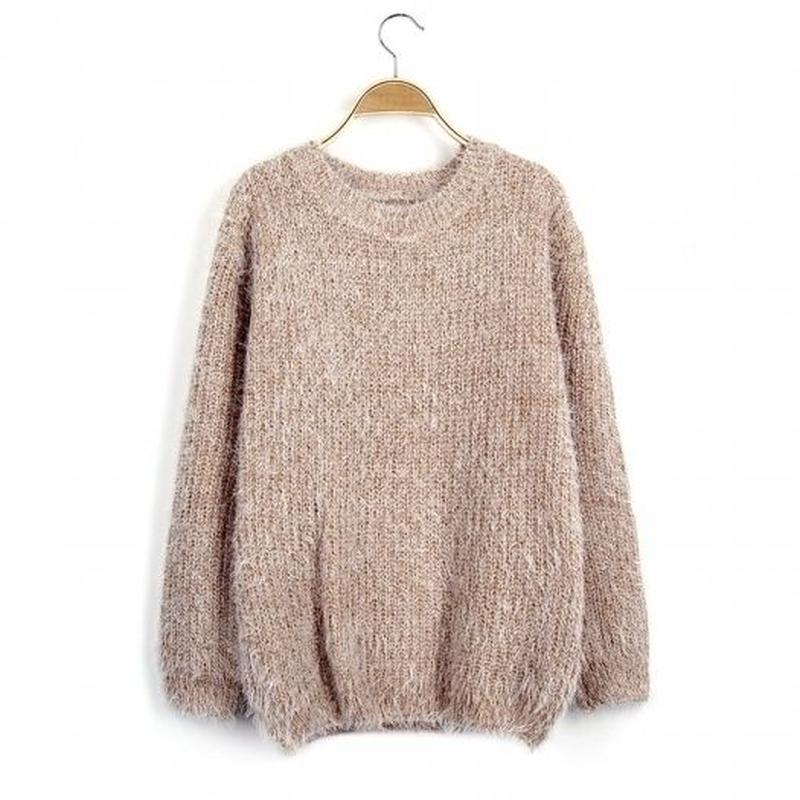 暖かい ゆったり 柔らかい ふわふわ ニット セーター