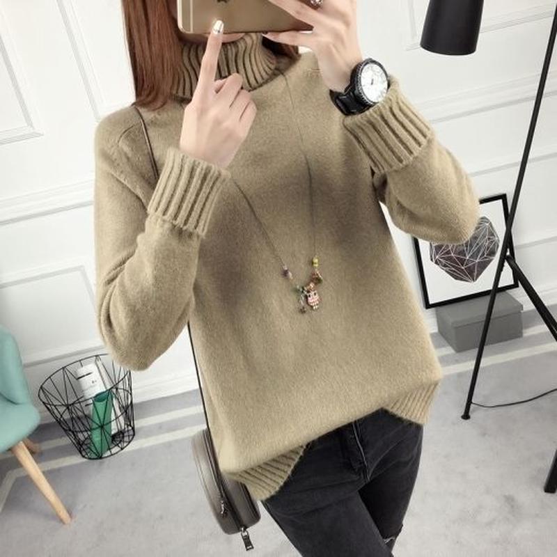 シンプル ゆったり ふわふわ おしゃれ 無地 ニット セーター