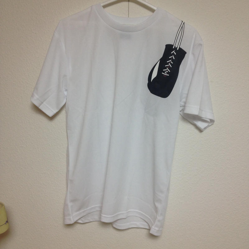 ドライグローブTシャツ-白