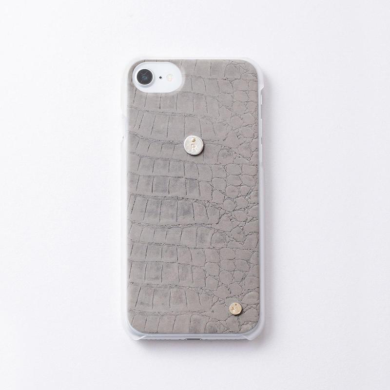 iphoneケース for6/7/8  クロコ × Inscribed イニシャル