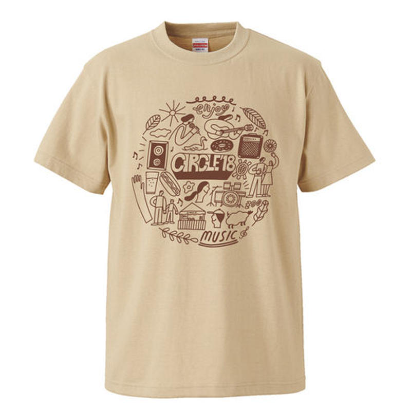 CIRCLE'18  T-Shirts (ライトベージュ)