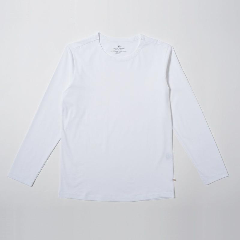 STELLAR CONFLICT天竺 L/S T-SHIRT WHITE