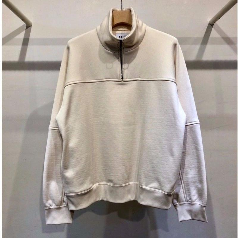 NYLON / COTTON PILE  HALF ZIP  HI NECK  PULLOVER  TOPS