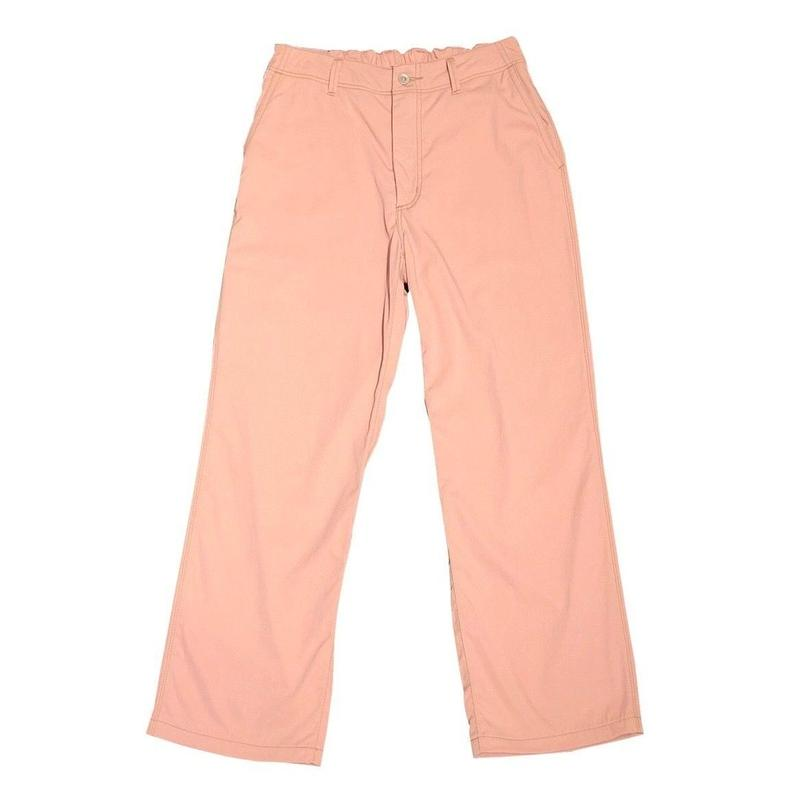 TASRAN YARN NYLON GABARDINE EASY STRIGHT PANTS