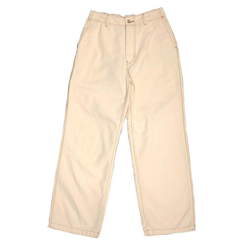 COTTON OXFORD EASY STRIGHT PANTS