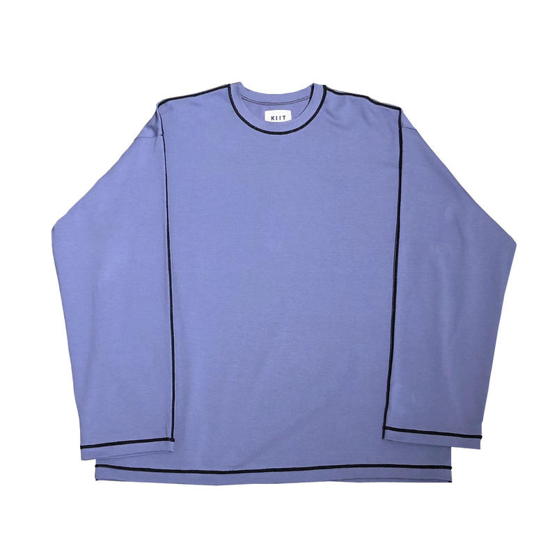 COTTON STRONG TWIST YARN L/SLEEVE STICH TEE