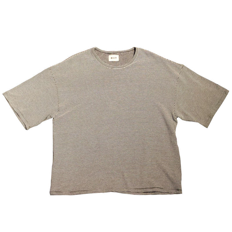 20/1×30/2 COTTON NARROW BORDER S/SLEEVE TEE