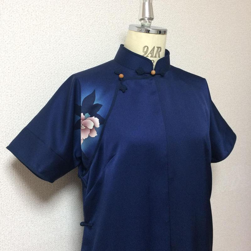 (展示用)平連袖旗袍