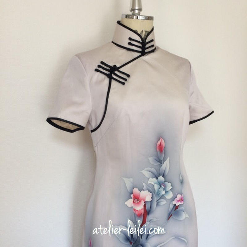 チャイナドレス(着物リメイク)