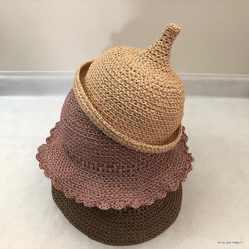 春夏向けクロッシェ帽(3サイズ)【クラウンとブリムの組み合わせ自由】