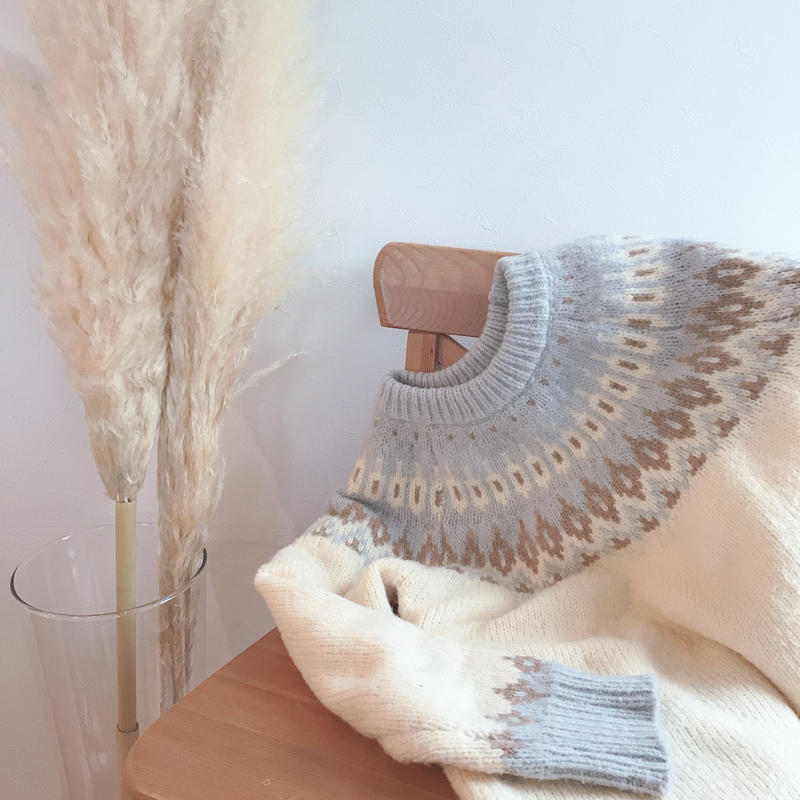 【ladies】Nordic  knit