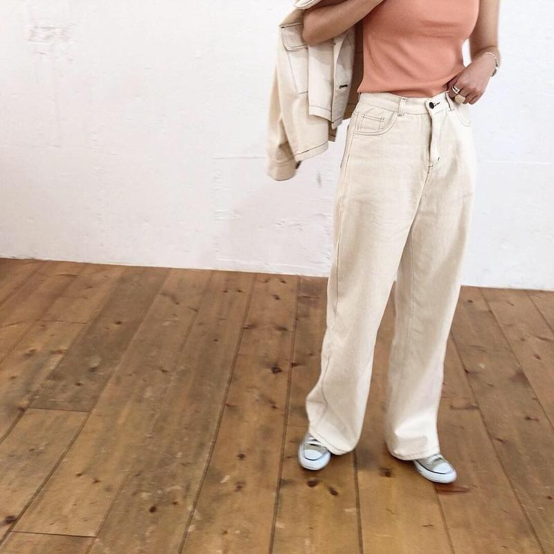 【ladies】Ivory denim