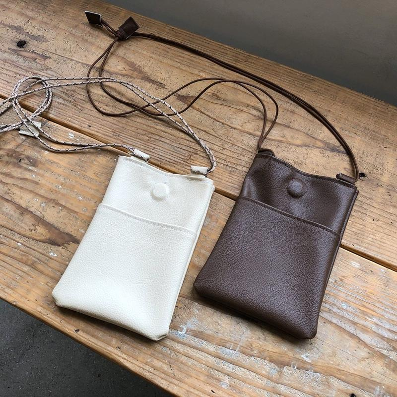 Eco leather pochette