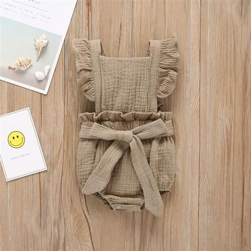 【baby】Cotton apron rompers