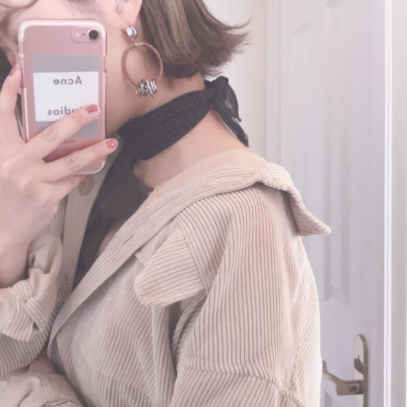 Sheer dot scarf