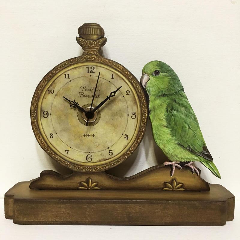 マメルリハ(ノーマル雌)-置き時計