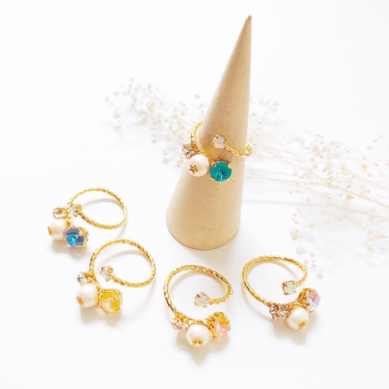 ★2020 S/S NEW COLOR★Petit Bijoux Ring