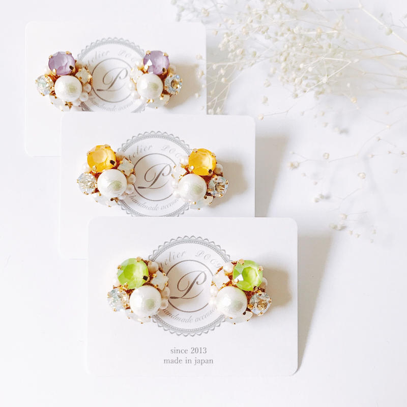 ★2019 S/S  New Color★SWAROVSKI®・Crystals Bijoux Pierce -Round-